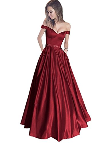 Shoulder Beaded Waist Gown - 2