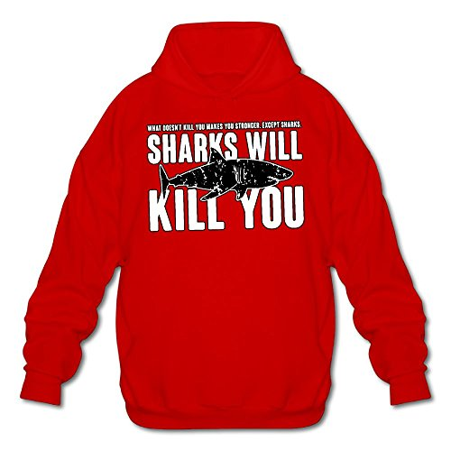 Price comparison product image Sharks Will Kill You Men's Outerwear, Long Sleeve Hoodie For Men, ManHoody
