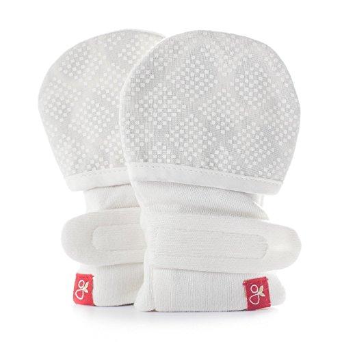 (Goumikids Unisex Baby Diamond Dots Mitts -Cream-3-6 Months)