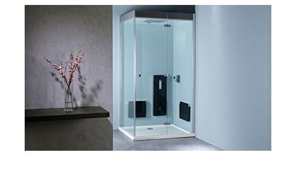 Repa baño Atlanta Generador de vapor para baño de vapor 160 x 90 cm cristal panel Pearl: Amazon.es: Bricolaje y herramientas