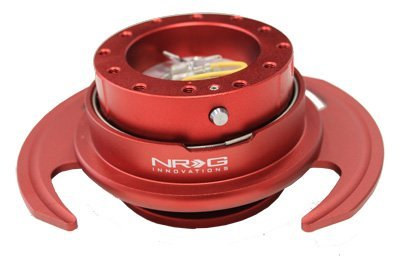 - NRG Innovations SRK-650RD 6-Holes Gen 3.0 Steering Wheel Quick Release Kit Red
