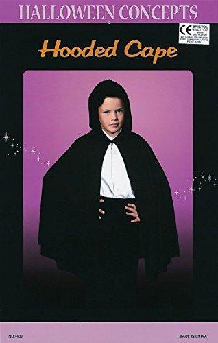Bristol Novelty CC554 Hooded Cape Costume, Black, One -