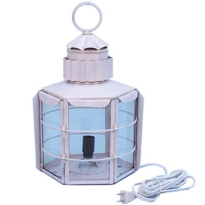 Clipper Electric Lamp Size: 15″ H x 9″ W x 8.5″ D, Finish: White