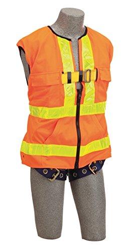 Orange Trumbull Industries XX-Large Capital Safety 1107409 Delta Hi-Vis Reflective Work Vest Harness