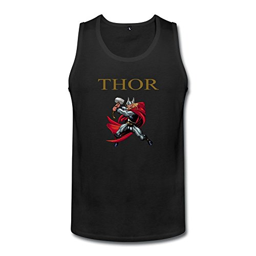 Mens 100% Cotton Thor Loki Tank Tshirts XL Black