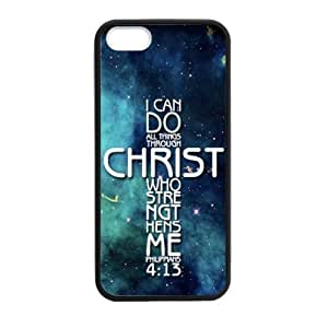 Personalized I can do all things through Christ who strengthens me - Philippians 6 4.7:13 - Bible verse Durable Rubber TPU Laser Technology Back Case For iPhone 6 4.7