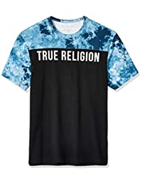 6a13c4404668 True Religion Mens Tr Tie Dye Ss Football Tee T-Shirt