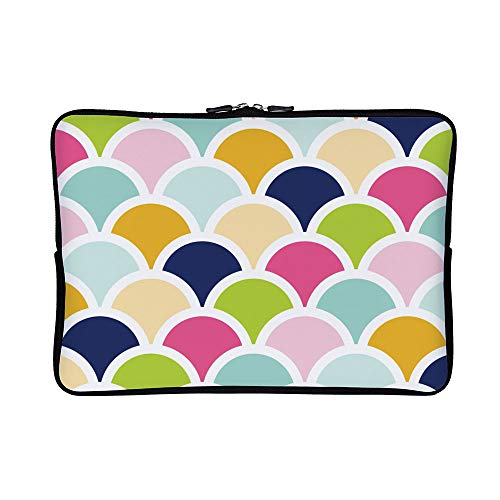 DKISEE Abstract Scallops Shells Colors Neoprene Laptop Sleeve Case Waterproof Sleeve Case Cover Bag for - Color Scallop Shell