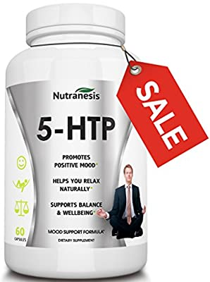 5-HTP Supplement - Boosts Serotonin - Improves Mood - Increases Energy - Supports Healthy Sleep Patterns - All Natural Griffonia Seed Extract - Order Risk Free!