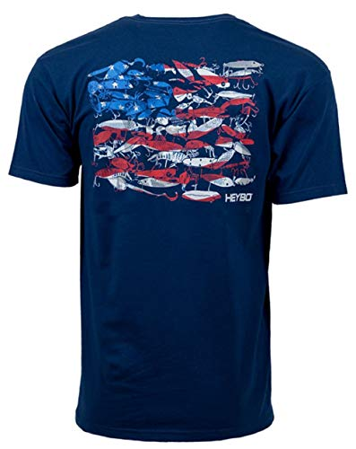 (Heybo Lure Flag Adult SS T-shirt-medium)