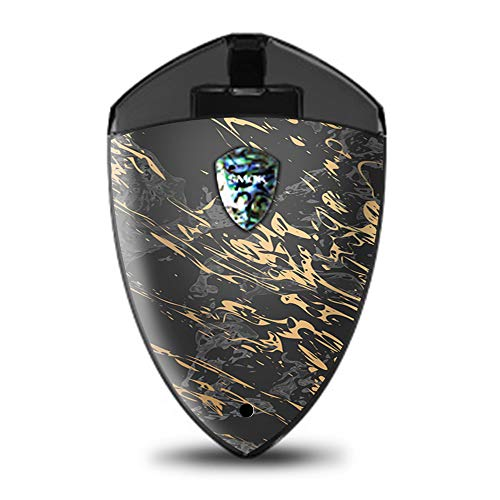 IT'S A SKIN Decal Vinyl Wrap for Smok Rolo Badge Pod System Mod Stickers Sleeve/Gold Marble Dark Gray Background