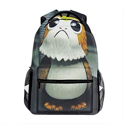 White And Brown Skylander Character Figurine School Travel Backpack for Boys Waterproof]()