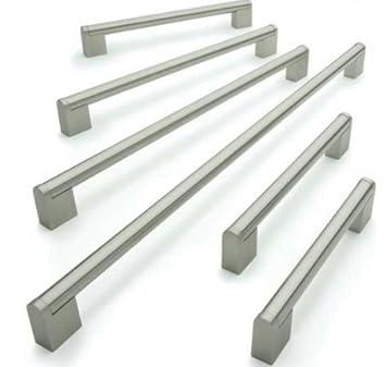 Tirador de acero inoxidable cepillado para armarios y cajones de cocina, barra Boss, Pack de 20, 128mm