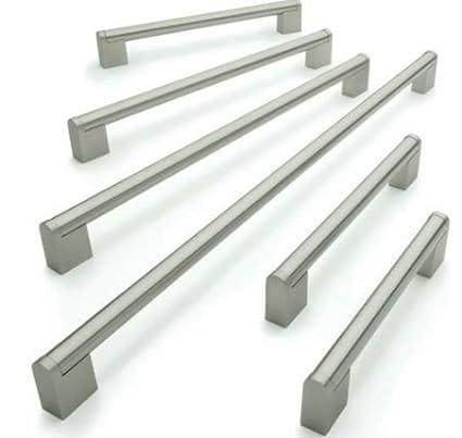 Tirador de acero inoxidable cepillado para armarios y cajones de cocina, barra Boss