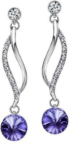 Neoglory Jewelry Crystal Made with Swarovski Elements Wedding Drop Earrings 5 Colors 2