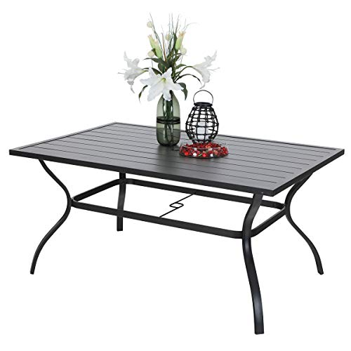 6 person black dining table - 3