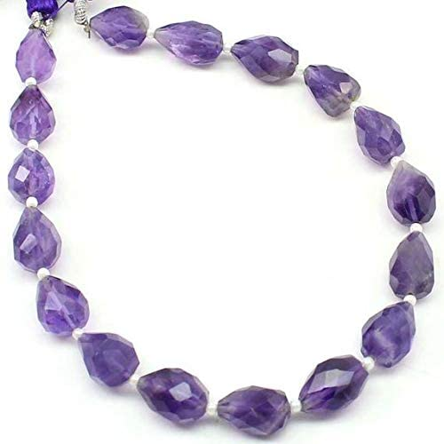 79.2 grms 32\u201d long continous strand 3878 Amathyst chip necklace many beads 14mm long 4mm wide