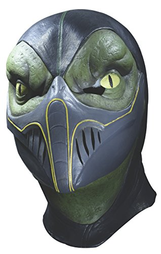 Reptile Mortal Kombat Costumes (Rubie's Costume Men's Mortal Kombat Reptile Overhead Latex Mask, Multi, One Size)
