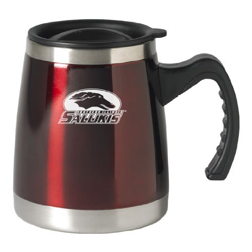 Southern Illinois University - 16-ounce Squat Travel Mug Tumbler - Burgundy