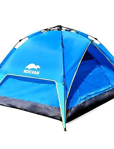 HIIY ROCVAN 3 Season A109 2 Person Double Layer Fiberglass Pole Automatic Tent