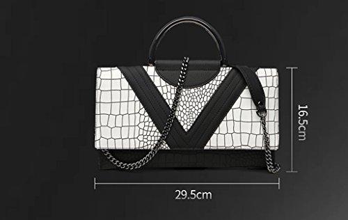 Home Monopoly Sacchetto di mano femminile della borsa della signora borse della borsa della borsa di modo con la cinghia di spalla, cinghia di polso ( dimensioni : #c )