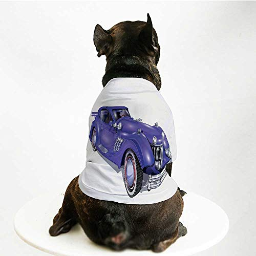 riendly Pet Suit,Custom Vehicle with Aerodynamic Design for High Speeds Cool Wheels Hood Spoilers Decorative for Pet Dogs,M ()