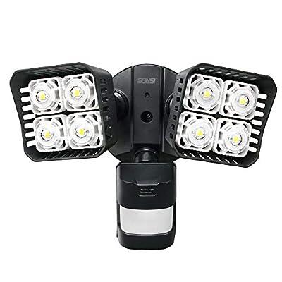 SANSI LED Security Motion Sensor Outdoor Lights, 30W (250W Incandescent Equivalent) 3400lm, 5000K Daylight, Waterproof Flood Light