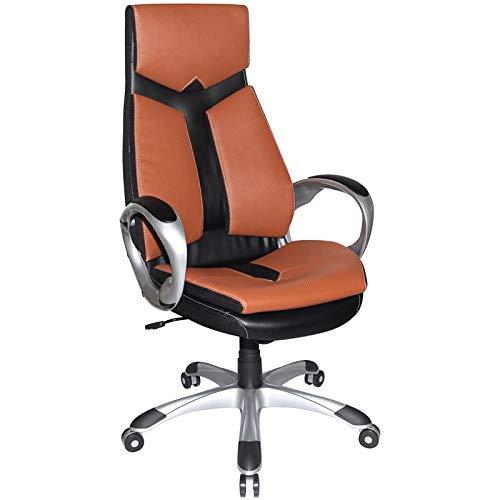 Boraam 97918 Jacob Adjustable Modern Office Chair, Sienna & Black, One Size