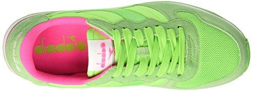 Diadora Camaro, Sandalias con Plataforma Unisex Adulto, 36 EU Multicolore (C6108 Rosa Fluo/Verde Fluo)