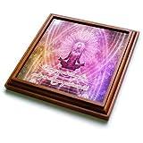 3dRose Spiritual Awakenings Meditation - Prayer and Meditation motivational art - 8x8 Trivet with 6x6 ceramic tile (trv_290262_1)