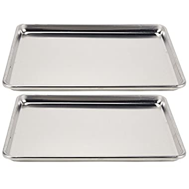 Vollrath (5314) Wear-Ever Collection Half-Size Sheet Pans, Set of 2 (18-Inch x 13-Inch, Aluminum)