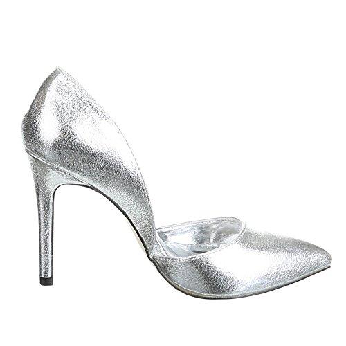 Ital-Design - Zapatillas altas Mujer Plateado - Silber 200-138