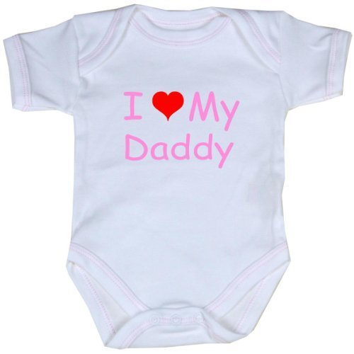 BabyPrem Baby I Love (Heart) My Daddy Clothes Bodysuit Vest Crawler 0-12 mths