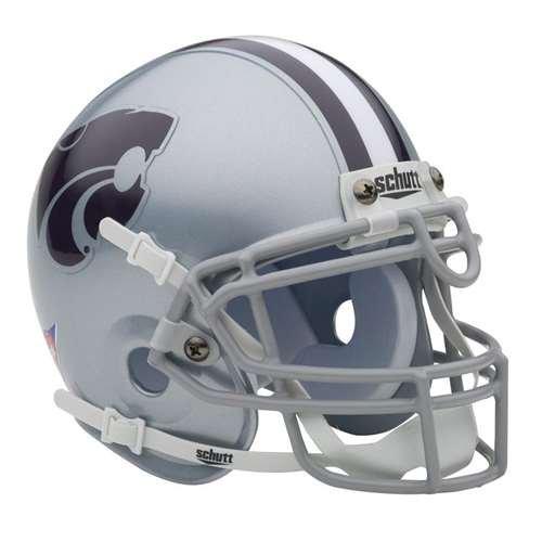Schutt Kansas State Wildcats Mini Helmet Grey