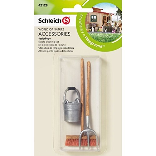 Schleich 42128 Stable Cleaning Set