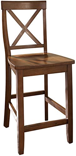 Crosley Furniture CF500424-CH X-Back Bar Stool (Set of 2), 24-inch, Classic Cherry