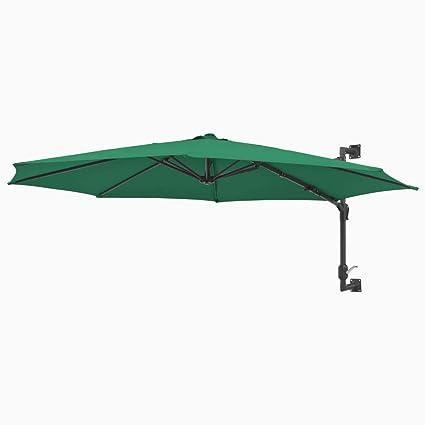 96856880 tidyard Sombrilla de Pared de Jardín con 8 Varillas Garden Parasol Parasol  de Jardín para Terraza