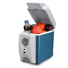 KAKA(TM) 7.5L Portable Electric 12 Volt Small Mini Fridge Car Refrigerator Cooler and Food Warmer (Blue)
