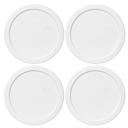 Corelle 428-PC 6.5 White Round Plastic Lid (4-Pack)