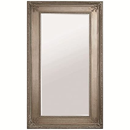 New Amazon.com: Bassett Mirror Prazzo Leaner Mirror, Antique Silver  ZG22