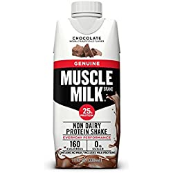 Muscle Milk Genuine Protein Shake, Chocolate, 25g Protein, 11 FL OZ, 12 Count