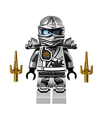 LEGO Ninjago Minifigure - Zane Titanium Ninja with Gold Sai weapons (70748) -