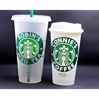 "Personalized Authentic Reusable Travel Starbucks Coffee Cup 16oz""Grande"" or Frosted 24oz""Venti"" Iced Cold Cup"