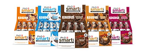 PHD Smart Bar-High Protein Low Carb Bar, 64 g, Pack of 10 (Variety Pack) by PHD smart protien