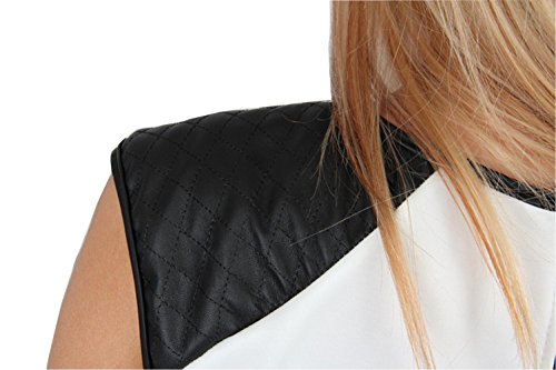 Talya Mujer Casual Elegante Peplo Camiseta Blusa 34 36 38 40 42 Blanco