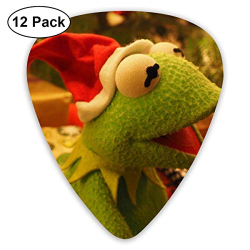 (Hallome Cute Christmas Cap Plush Toy Frog Guitar Pick 0.46mm 0.73mm 0.96mm 12pack,Suitable for All Kinds of Guitars)