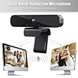 Full HD 1080P Webcam with Microphone,360-Degree