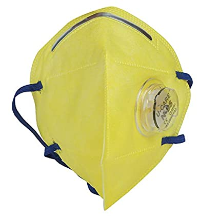 U-Care N95 5 Layer Reuseable Mask Respirator with valve Respirator 95% Filtaration efficency Yellow