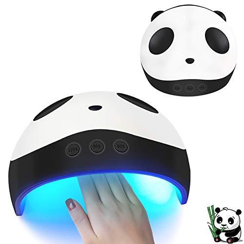 NSST LED Auto-Sensing Secador de uñas Lámpara de uñas Panda UV Gel Creative Fashion Mini USB 3 Temporizador Configuración...