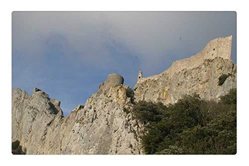 (Tree26 Indoor Floor Rug/Mat (23.6 x 15.7 Inch) - Chateau De Peyrepertuse Rock Castle Mountains )